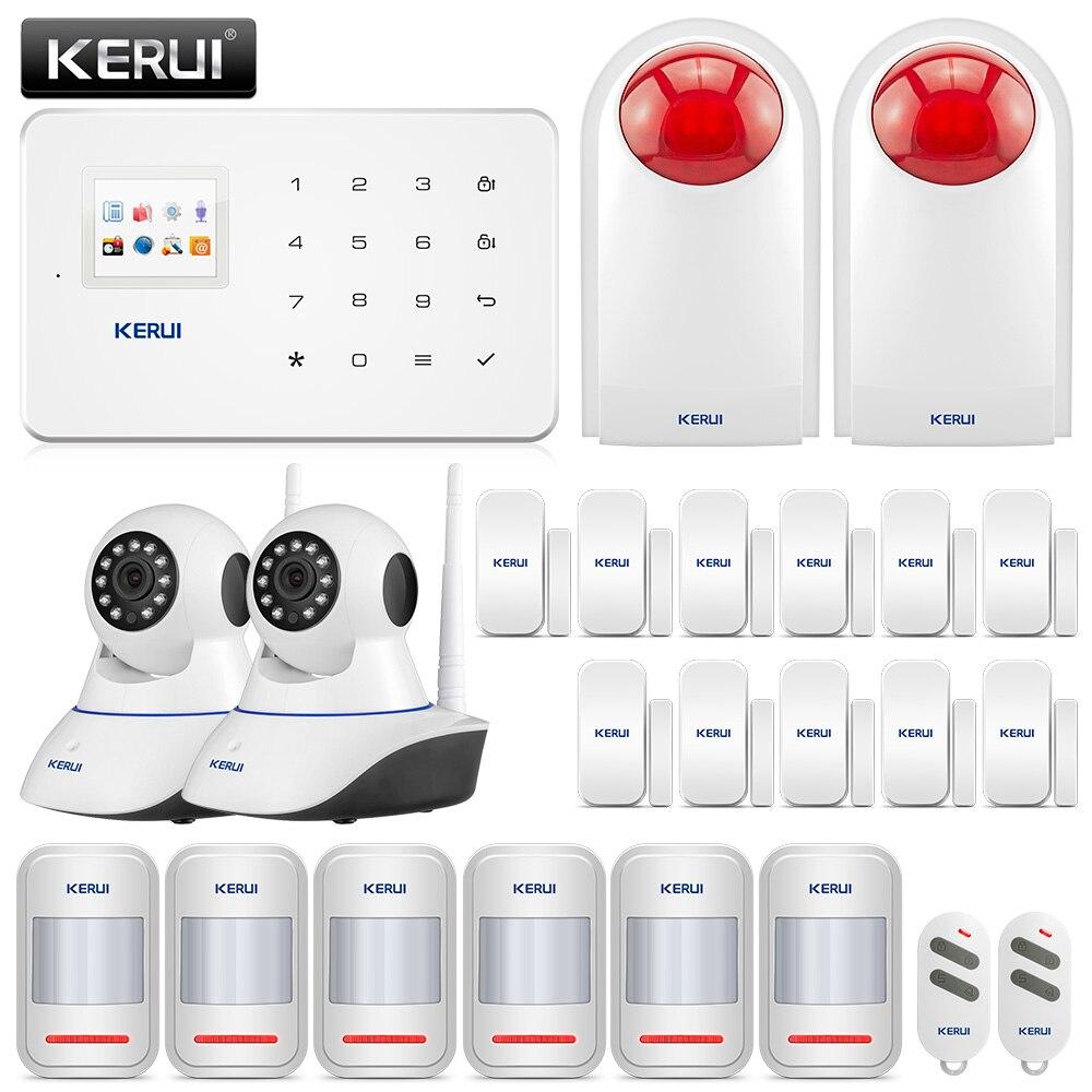 KERUI G18 сигнализации Системы sms-приложение Управление GSM сигнализация Системы защиты безопасности Sesor сигнализации