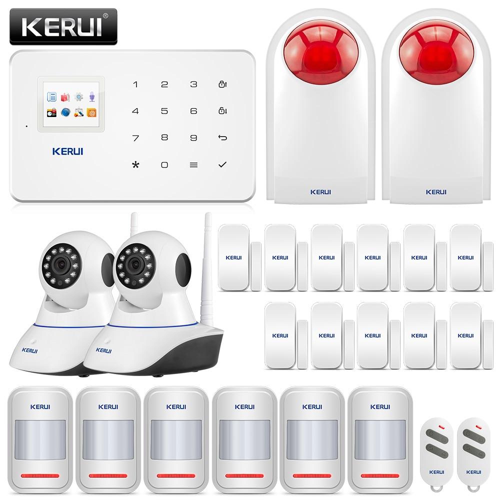 KERUI G18 Alarm System SMS APP Control GSM Burglar Alarm System Security Protection Sesor Alarm