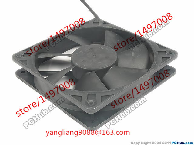 CHB12012BS DC 12V 0.26A 2-wire 2-pin connector 100mm 120x120x25mm Server Square fan Free Shipping