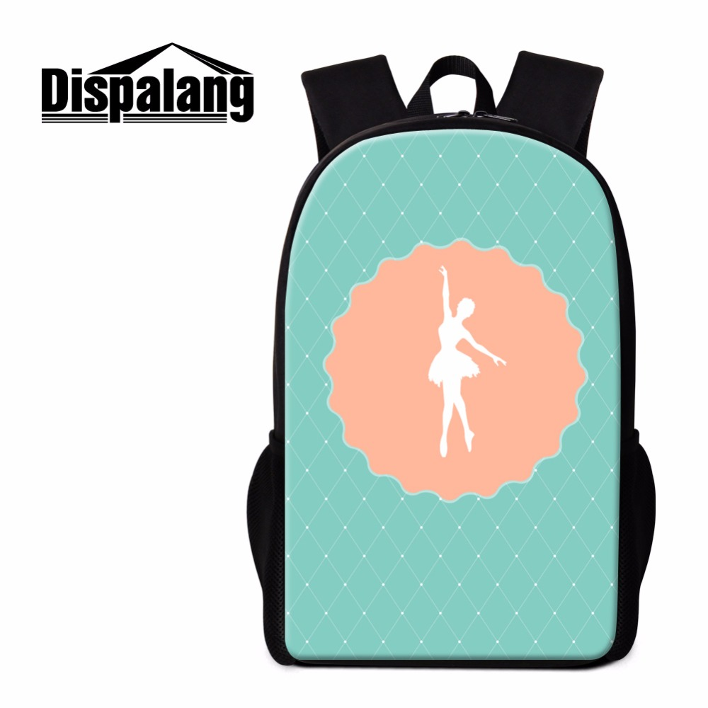 Dispalang Womens Casual Backpack Ballet Girl Pattern Schoolbag For Primary School Student Fashion Book Bag Kids Tourism Bagpack