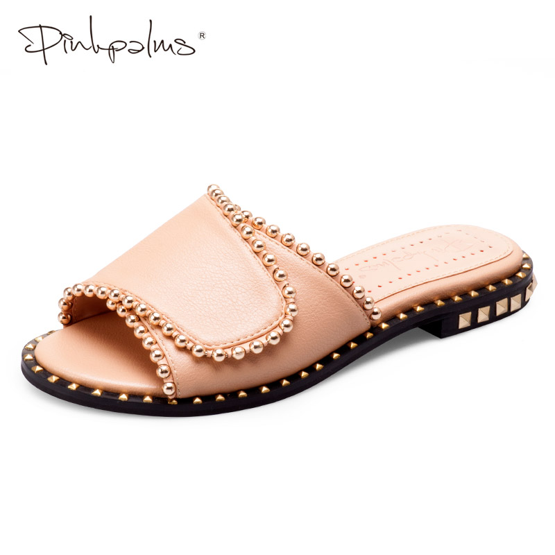 Pink Palms Shoes Woman Summer Slipper Flat Slippers for Women Single Sandals Non slip Fashion Beach