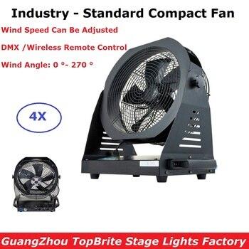4XLot Podium Verlichting Effect Krachtige 200W Industrie-Standaard Compact Ventilator Metalen Behuizing DMX Speciale Effecten Fan Voor concerten Dj