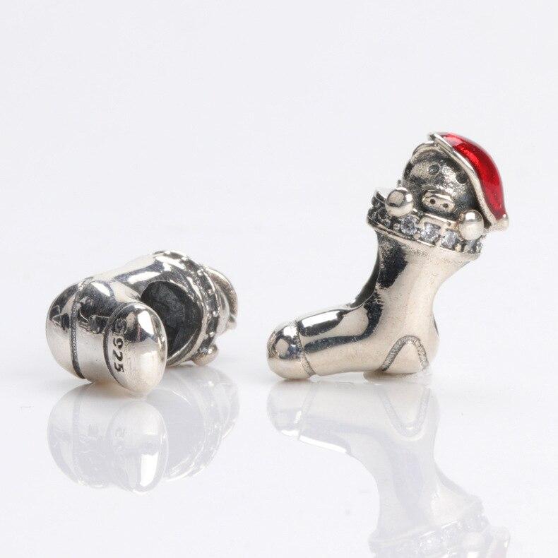 PN 30% nueva colección cuentas de esmalte rojo Apple granos de los encantos de pulseras europeas para hacer joyería regalos de navidad