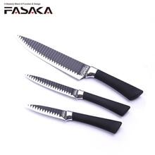 FASAKA нержавеющая сталь шт. 3 шт. кухонные ножи набор кухонных ножей с 8 »дюймовый шеф повар 5» утилита 3,5 »для очистки овощей в специальное лезвие дизайн