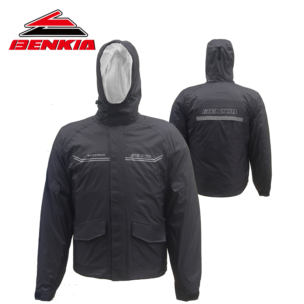 BENKIA Motorcycle Jacket Moto Riding Raincoat Suit Motorcycle Raincoat Rain Pants Suit Riding Pantalon Moto RC28  benkia two piece raincoat women men suit rain coat pants motorcycle rain gear riding jackets jaqueta motoqueiro