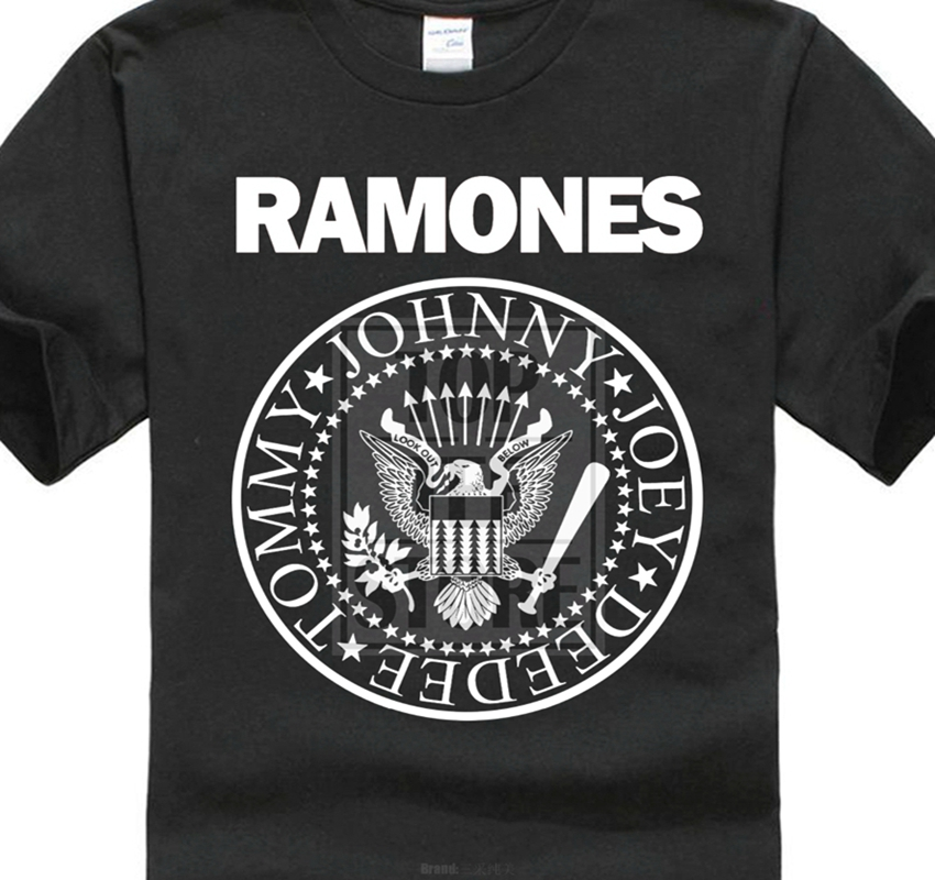 The Ramones Distressed Seal Punk   T     Shirt   New Black 100% Cotton Sizes Md 4Xl