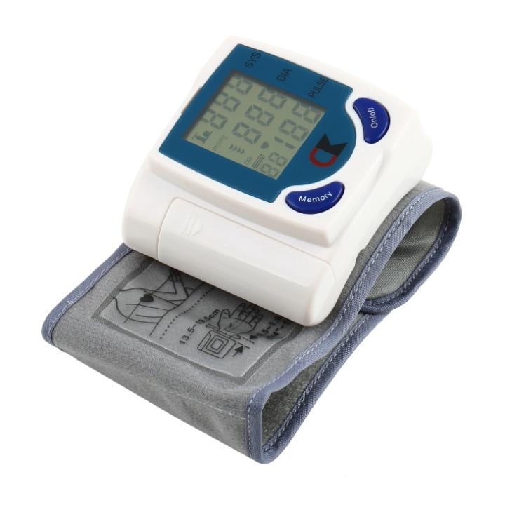Digital LCD Wrist Cuff Arm Blood Pressure Health Monitors Heart Beat Rate Pulse Measure  ...