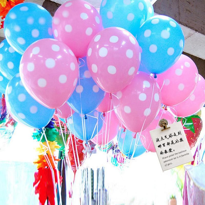 100pcs 12 inch Latex Polka Dots Balloons Wedding Birthday Balloons Decoration Gl