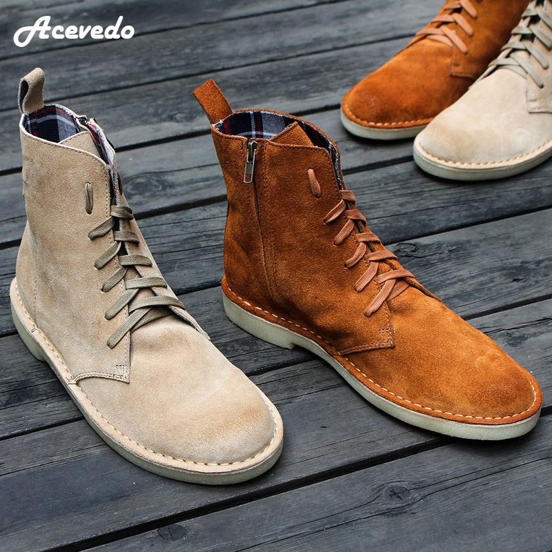 2016 autumn and winter male casual ankle boots vintage british style genuine leather zipper desert boots trend denim boots british style vintage men ankle boots genuine leather male tooling boots riding equestrian lace up autumn winter 2 5