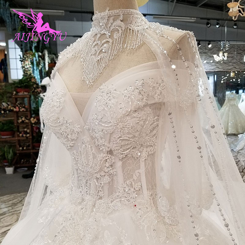 AIJINGYU Wedding Dress Long Gowns