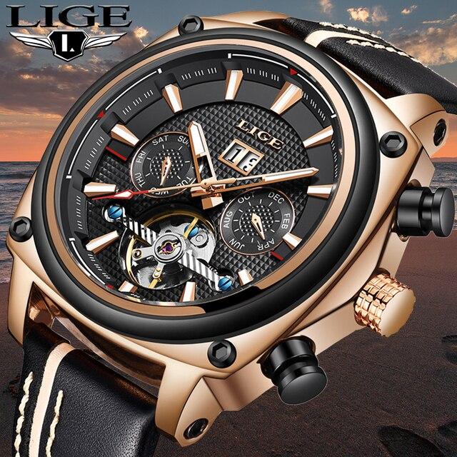 צבאי עמיד למים שעון מכאני גברים של ליגע למעלה luxuryBrand toCreate a StylishCasual גברים של שעונים Montre Homme
