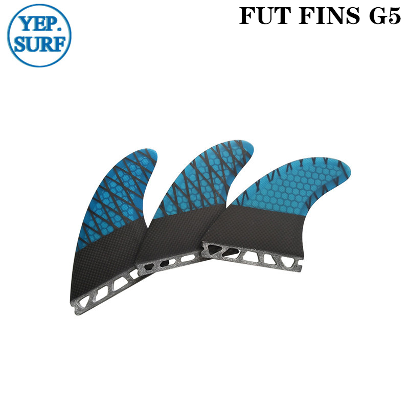 Quilhas Future G5 Fins Blue Honeycomb M Size Surf Fin High Quality G5 Future Carbon Fiber Surfboard Fins Free Shipping