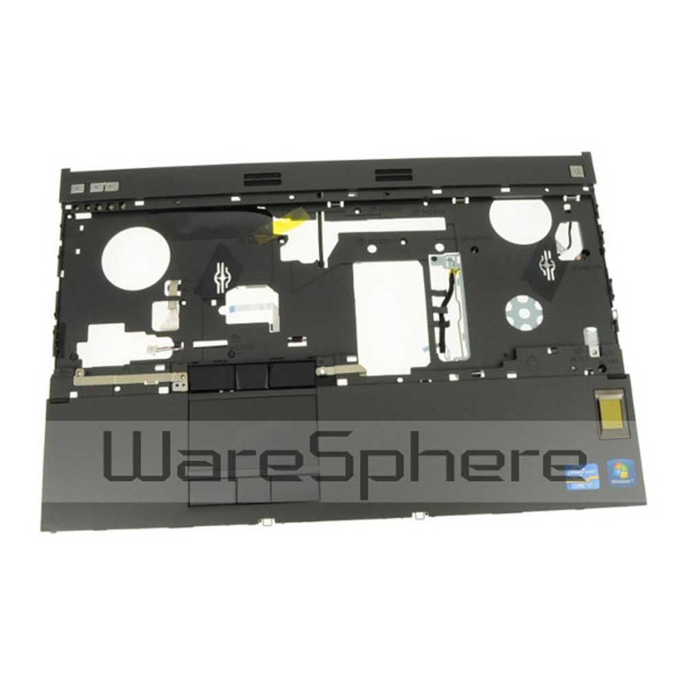 New Top Cover Upper Case Palmrest WITH Touchpad Assembly w/ FIPS Fingerprint Reade for Del