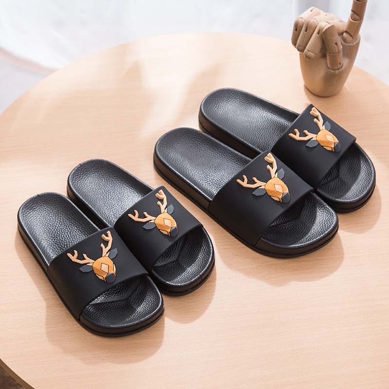Women 5d Cartoon Deer Slide Sandals Summer Slippers Slides Flats Beach Slides Home Slippers Slip On Bothe Sandals Women Shoes