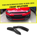 Разветвители переднего бампера для автомобиля  1 пара  карбоновое волокно/FRP  фартуки для VW Scirocco  не R 2010-2013  автостайлинг