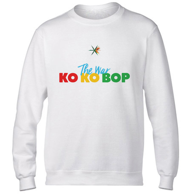 Exo kpop hoodies women men funny fashion <font><b>k</b></font> <font><b>pop</b></font> EXO THE WAR printed Casual o-neck female male Autumn Sweatshirts image
