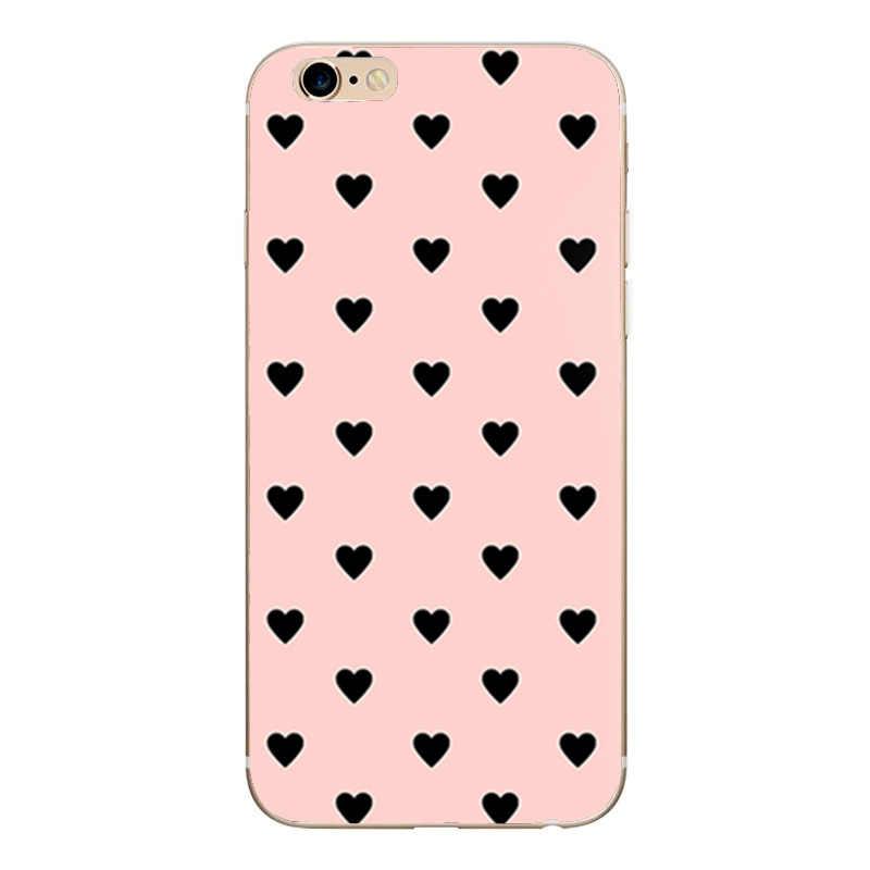 Hart Print Case Voor Iphone 6 S 6 S Cover Telefoon Accessoires Paar Coque Capas Voor Iphone 8 Plus Iphone5 5S Se X Xs 7 8 Plus Gevallen
