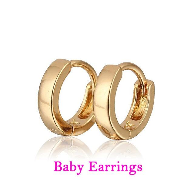 Baby Earring Gold Hoop Earrings Kids Infant Bijoux Aretes Bebe Brinco Orni Bambino Oorbellen Plated