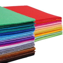 Shuanshuo High Quality Mix Colors 100% Polyester Nonwoven Felt Fabric For DIY Sewing Carfts40PCS/lot 15CM*15CM N-40