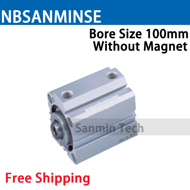 SDA Series Without Magnet 100mm Bore Size Compact Cylinder AirTAC Type Double Acting Cylinder Pneumatic Parts NBSANMINSE nbsanminse cylinder pneumatic parts durability sda series with magnet 20mm bore size compact cylinder airtac type double acting