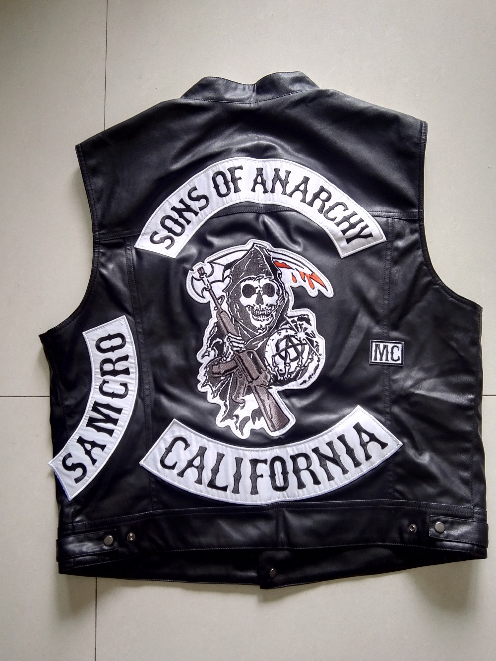 Biker Vest Patches >> Sons Of Anarchy Cut Vest | www.imgkid.com - The Image Kid Has It!