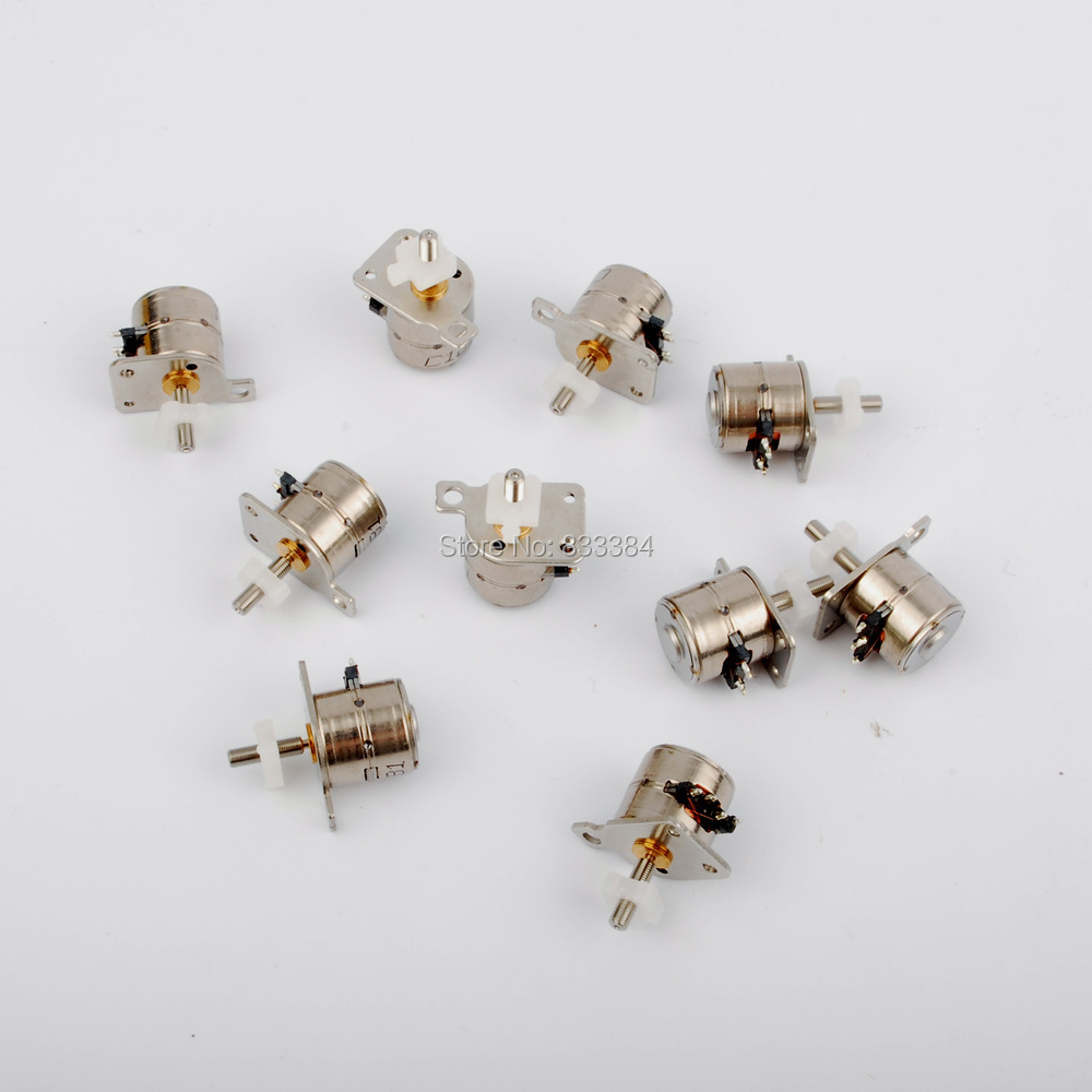 New 10pcs 4 Wire 2 Phase Mini Stepper Motor Micro D8mm Four Diagram With A Small Sliding Table Free Shipping In From Home Improvement On