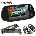 """BEMTOO 2.4G Módulo Sem Fio 7 """"Monitor Espelho TFT a Cores HD LCD Tela LCD + Car Rear View License Plate com Câmera de Visão Noturna"""