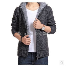 Free shipping Man winter Thickening Hoodie sweaters 2014 Brand Mens coat Men casual jackets warm Cotton-padded jacket