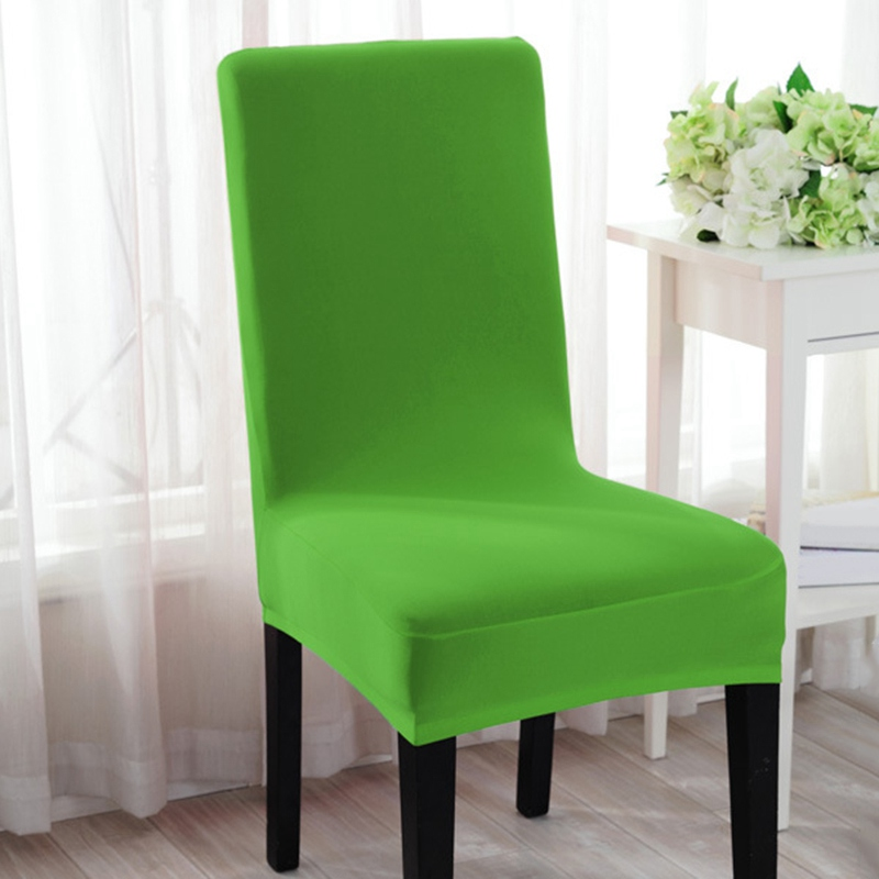 new arrival spandex chair cover solid color dining chair cover stretch slipcover home hotel. Black Bedroom Furniture Sets. Home Design Ideas