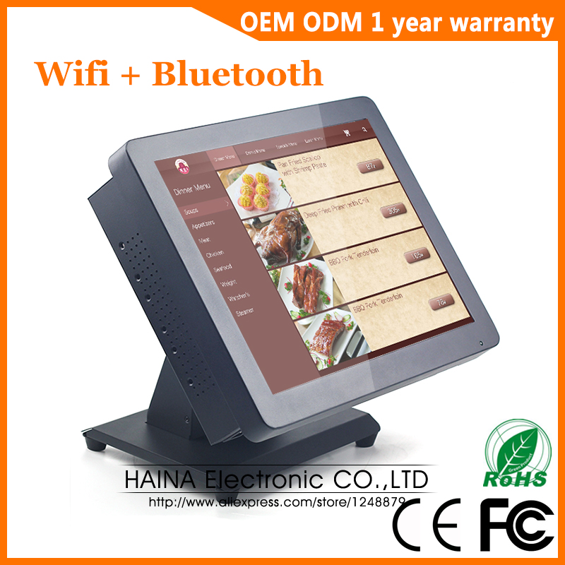 Image 3 - Haina Touch 15 inch Touch Screen Restaurant POS System, Desktop All in one Touch Screen Monitor-in LCD Monitors from Computer & Office