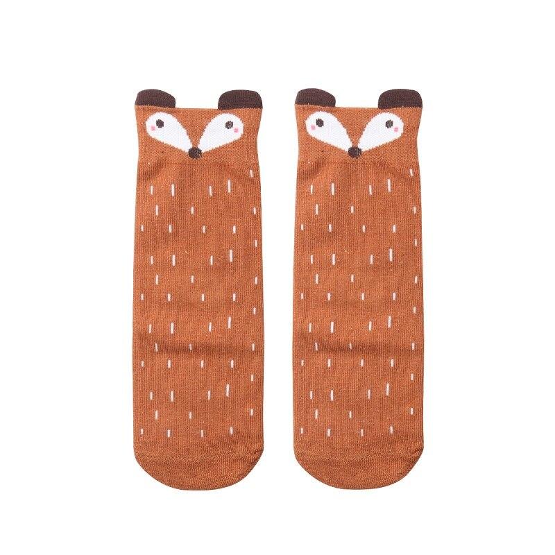 Socken, Strumpfhosen & Leggings Kleinkind Kinder Mädchen Junge Fuchs Muster Socken Baumwolle Knie Hohe Strumpfwaren 2 Farbe Baby