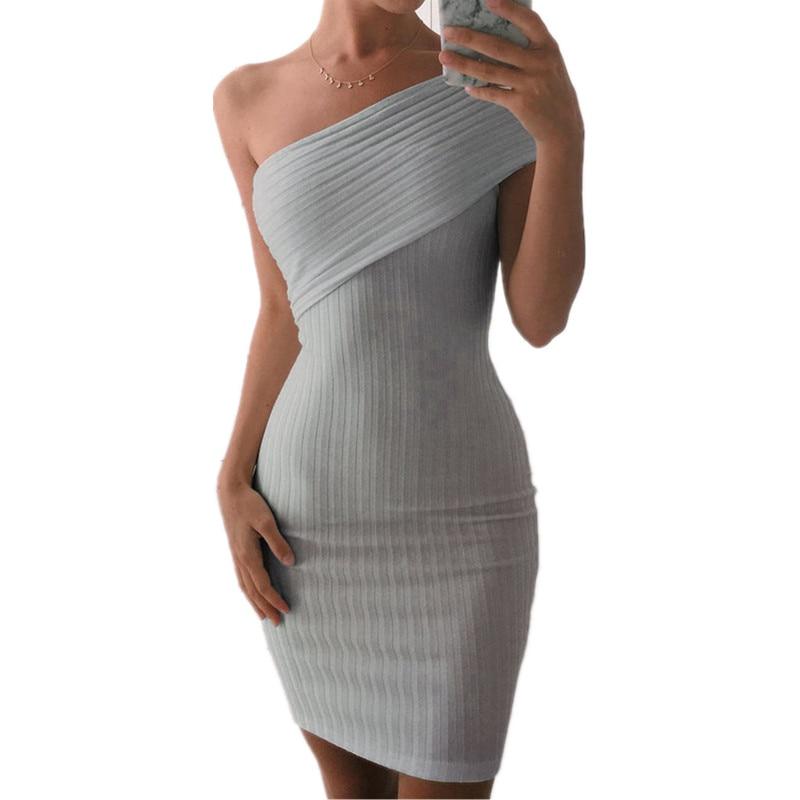 2018 New Arrival Knitted Party Dresses Vestidos Fashion Sleeveless Mini Women dress Lady Summer Dress Women Vestido WG261