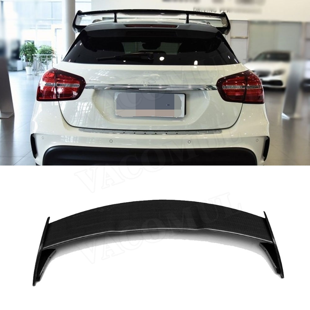 For W176 A45 Carbon Fiber Rear Roof Spoiler For Mercedes-Benz A180 <font><b>A200</b></font> A260 A45 AMG Hatchback 2013-2017 image