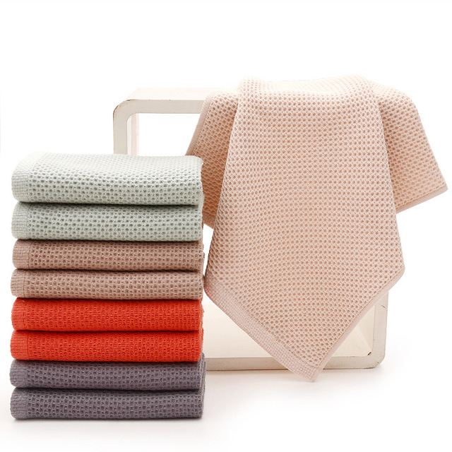 2018 New Arrival Solid Color Honeycomb Towel Super Absorbent Portable Face Towels Travel Bath Towel For Home Hotel Size 33x72 cm