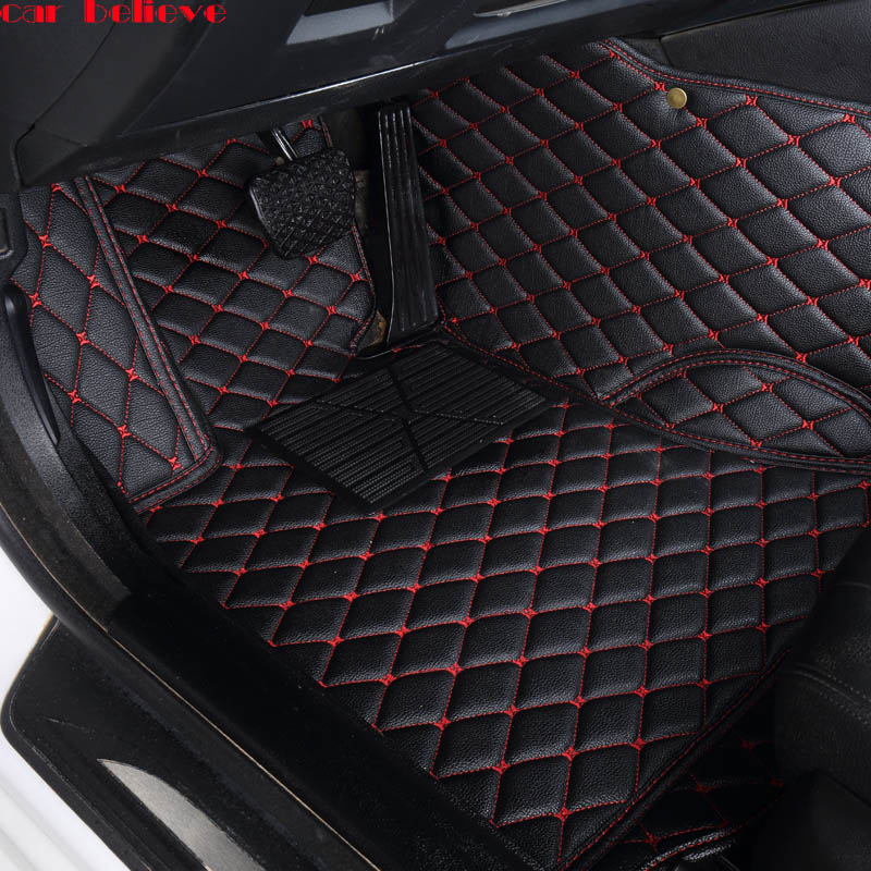 Car Believe Auto car floor Foot mat For porsche cayenne macan car accessories waterproof carpet rugs car believe auto car foot floor mat for porsche cayenne 958 2017 2010 panamera cayman 955 957 958 waterproof car accessories