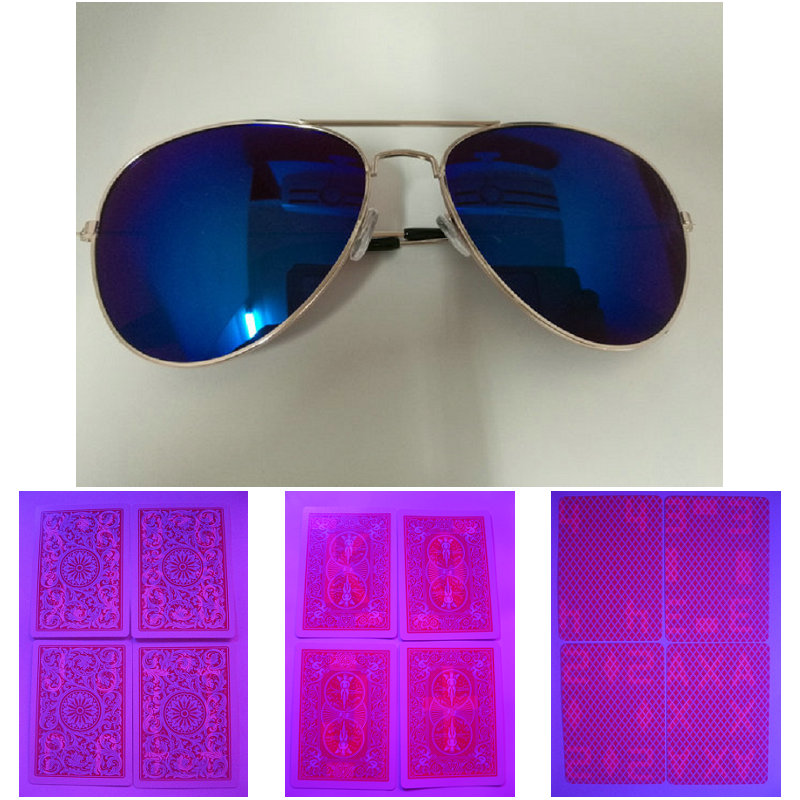 Magic poker home-GK 0040 Perspective glasses Magic Invisilbe ink Glasses With Invisible Playing Cards Anti Poker Cheat magic poker home xmofang perspective glasses suit gambling perspective poker suit contact lens box magic props card cl