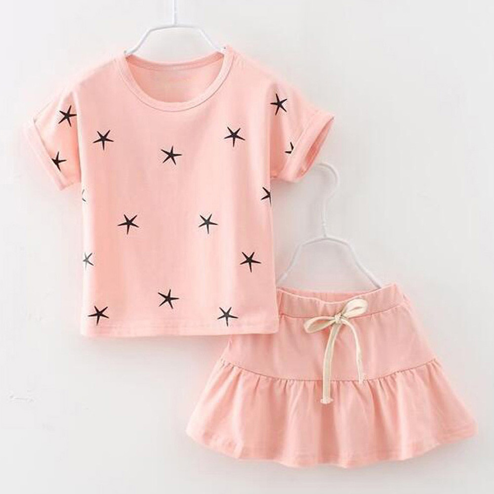 Summer Baby Clothes for girls Cute Baby Kids Girls Clothing Printing Short Sleeve T-shirt Short Skirt for girl cute girl outfits girls summer dress pullover girl clothes character short sleeve kids outfits 2016 summer style fashion kids t shirt for girls