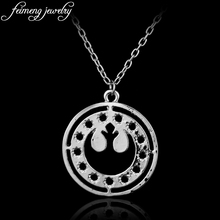 Star Wars Necklace The Rebel Alliance Logo Silvery Pendant Necklace Millennium Falcon For Women And Men Fashion Jewelry