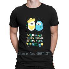 Amigos melhores amigos t camisa homme camiseta estilo verão anti-rugas engraçado malha S-3xl padrão camisa