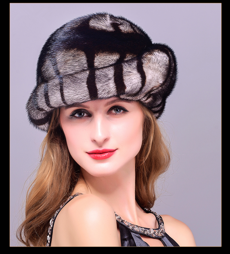 HM001 women's winter hats Genuine real mink fur hat Russian women's winter warm fur baseball cap. hm039 real genuine mink hat winter russian men s warm caps whole piece mink fur hats