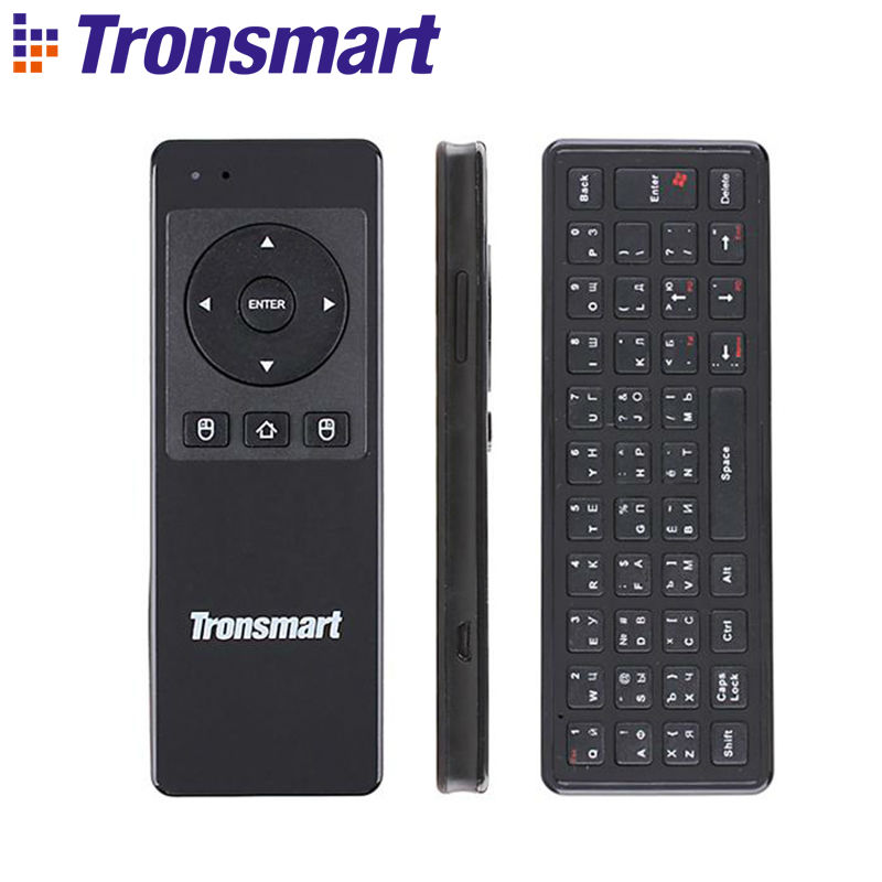 [Russian Optional] Tronsmart TSM-01 2.4GHz Wireless Keyboard Air Mouse Gaming Accessories for Computer Tablet PC Android TV Box redmi 6 3 32 black