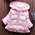 2016 nueva ropa de los niños femeninos niños grueso abrigo de invierno chaqueta de algodón acolchado abrigo de invierno niña hembra