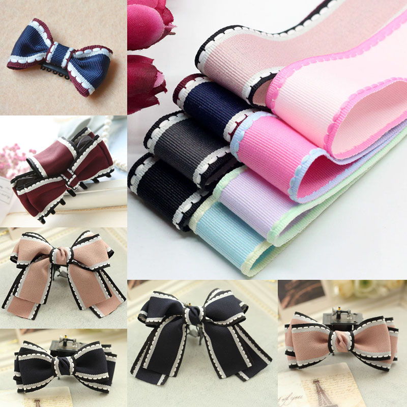 New (1 Meters/lot) 1'' (25mm) Jump  Line Grosgrain Satin Ribbon DIY Handmade Arts Decorative Crafts Hair Bow Sewing Accessories