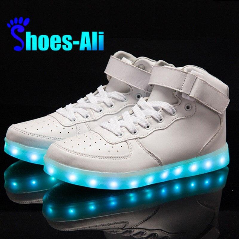 Colorful Adult Led Lights Usb Charging Colorful Shoes Mesh Mens Models Luminous Shoes Shoes High Safety Men's Casual Shoes Men's Shoes