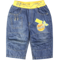 Boys knee-Length straight Jeans summer babe Denim Trousers letters embroidery pants toddler holidays outerwear ZQ-36717