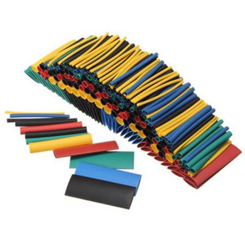 328pcs Heat Shrink Tubing Shrinkable Tube Car Cable Sleeving Assortment Wrap Wire Kit For Data Line Charging Cable Cable Winder