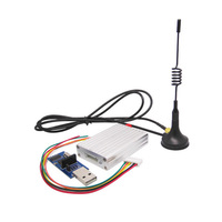 4sets/lot 3km 433mhz high performance rf wireless tx rx module kit (SV652 + antennas + dongle) with TTL / RS232 / RS485