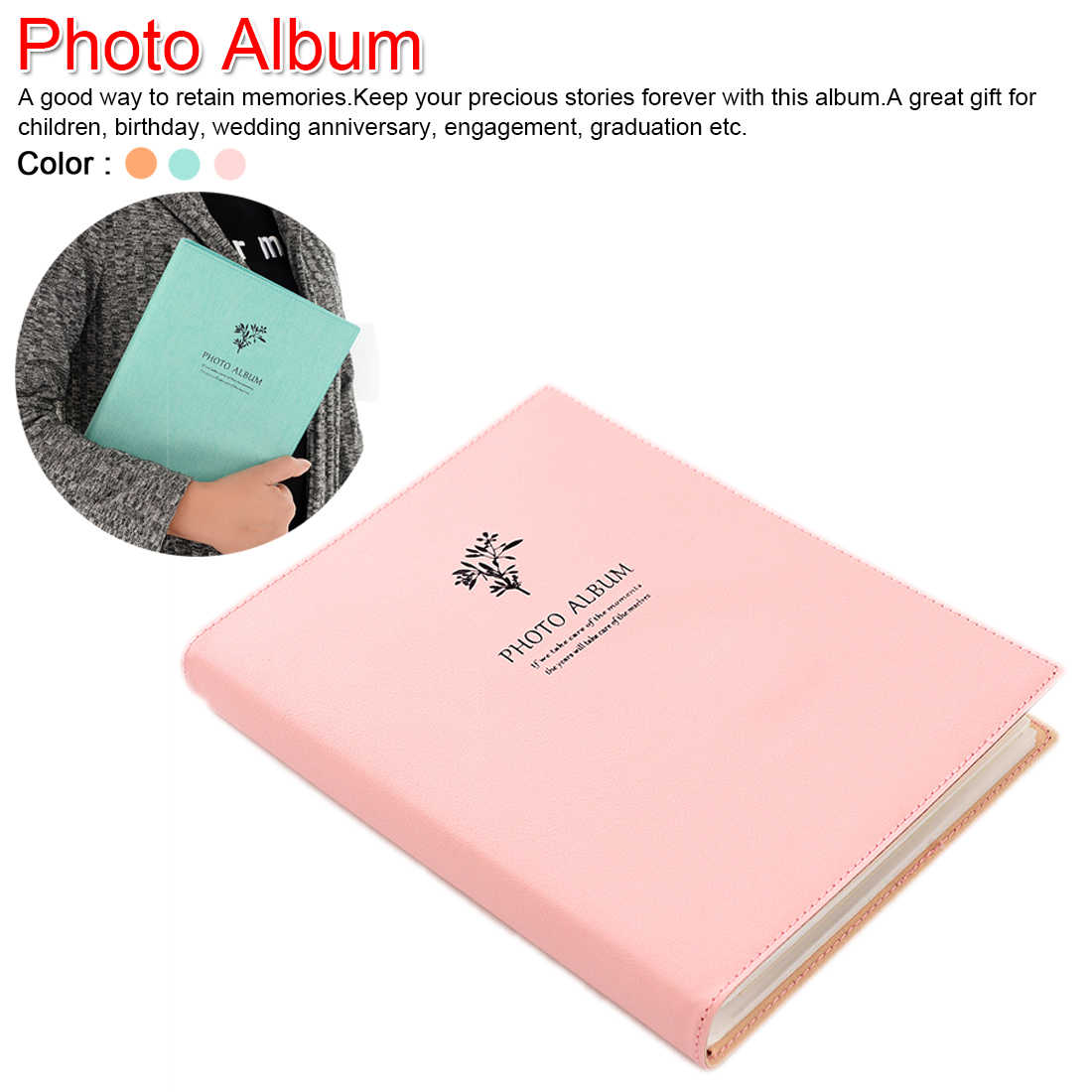 6 inch Insert Photo Album 80 Pages Scrapbook Paper Baby Family Scrapbook Albums Wedding Photo Album