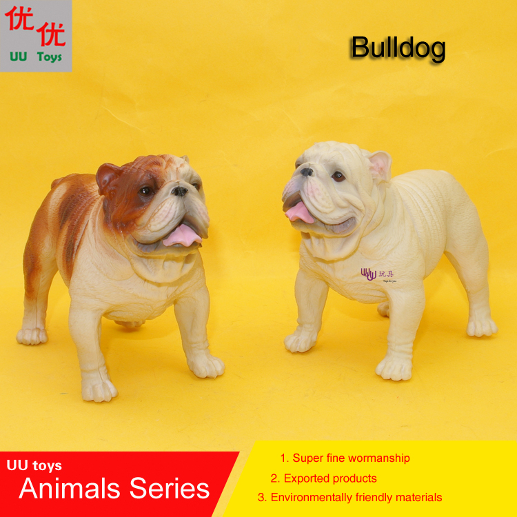 Hot toys: Bulldog dog simulation model Animals kids toys children educational props