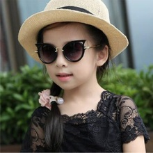 2019 Children sunglasses cat eye vintage kids girls Boys Cute Eyewear Shades Goggles UV400